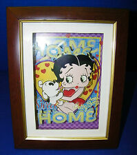 Betty Boop Dog 3D 3 D Picture Photo Family Portrait In Frame Home Sweet Home