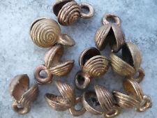 10 Perlen Messing Ashanti Wachsausschmelzverfahren Halbschalen Muscheln 11 mm