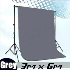 Photography 3*6m Muslin Cotton Chromakey Backdrop Studio Fabric Background GREY