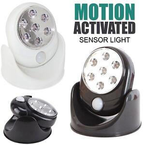 Movimento Attivato Cordless Sensore 7 Luce LED Interno/Esterno 360° Rotante