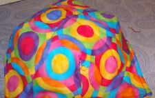 Microwave Bowl Holder Bright Rainbow on Neon geo color Bowl Potholder Bowl Cover