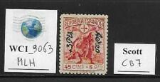 WC1_9063. SPAIN. Valuable 1938 ovpt. stamp. Scott CB7. MLH
