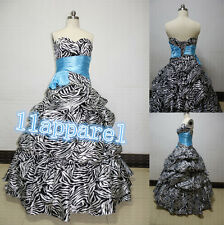 Black/White Sweetheart Zebra Quinceanera Dresses Party/Prom/Bridesmaid Dresses