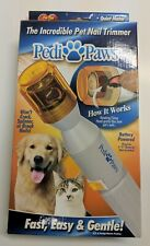 Pedi Paws Nail Trimmer Grinder Grooming Tool Care Clipper Pet Dog Cat Battery