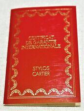 CARTIER Stylos Pen Guarantee Certificate BLANK Booklet Panthere Santos Roadster