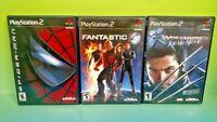Fantastic 4, Wolverine's Revenge, Spider-man -PS2 PlayStation 2 Marvel Lot Games