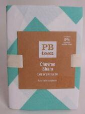 NWT Pottery Barn PB Teen Chevron Euro sham, pool
