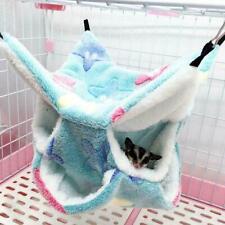 Velvet Pet Hammock Hamster Rat Bird Parrot Ferret Hanging Bed Cushion Hot F9X4