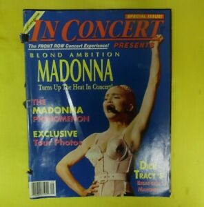 MADONNA BLOND AMBITION In Concert Presents Special Issue 64 pages SEPT OCT 1990