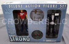 America's Best Comics TOM STRONG Deluxe Action Figure Set w/ Rolling Pneuman NIB