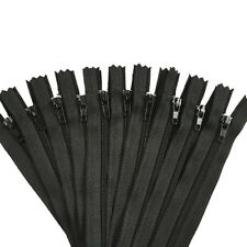 """BD/_10X Assorted Dress Upholstery Craft Nylon Metal Closed Open Ended Zips 8.66/"""""""
