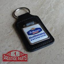 Rothmans Racing Honda black leather key ring key fob - High quality keyring