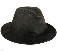 "CAP - SAFARI HAT BROWN WATER REPELLANT WEATHERED COTTON ""INDIANA JONES"" STYLE"