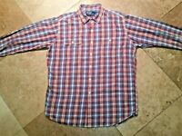 Ralph Lauren Flannel Workshirt Button Long Sleeve Shirt Cotton Plaid  L