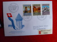 1975 SWITZERLAND  EUROPA PAINTINGS STAMPS REGISTERED COVER