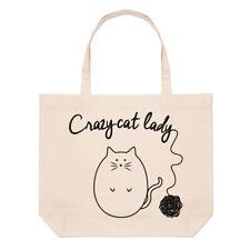 Gomitolo di in maglia Crazy Cat Lady GRANDE BORSA CON MANICO da Spiaggia -