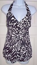INC International Concepts Tiered Halter Top Sz 12 Black/White  NEW w/Tags