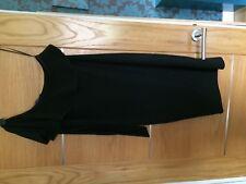 new NEXT black glittery stretch 1 shoulder & sleeve dress sz 14 petite. rp £38