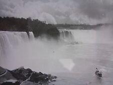 Niagara Falls, USA Canada 1800s GLASS NEGATIVE SLIDE Benzinger-Lichtbilderverlag