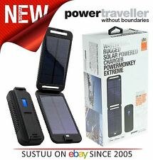 Powertraveller Powermonkey Waterproof Rugged SOLAR Powered Portable Charger NEW