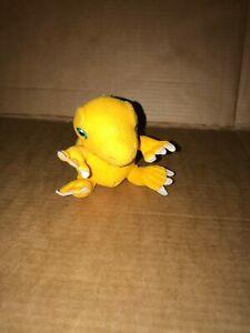 """Vintage Digimon AGUMON/KOROMON Reversible Soft Toy Plush- 5""""- 2000"""
