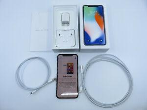 Apple iPhone X Silver 64GB EarPods Lighting Connector USB Verizon Unlocked NR!!!