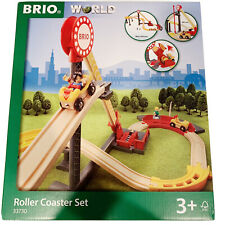 BRIO Wood Wooden Train 33730 Roller Coaster Set Boxed *FUNCTIONALLY COMPLETE*