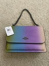NEW COACH KLARE CROSSBODY OMBRE MULTICOLOR RAINBOW BAG 91059 $398