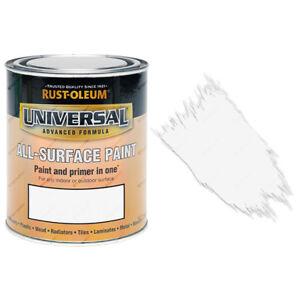 Sale Rust-Oleum Universal All-Surface Self Primer (Brush) Paint Matt White 750ml