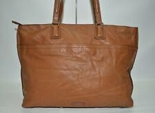 Fossil Cognac XL Genuine Leather Tote Shoulder Bag