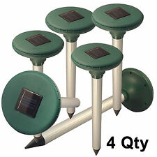 4 Solar Sonic Rodent/Mole/Gopher/Vole Repeller,Drive Pests Out of Yard!Us Seller