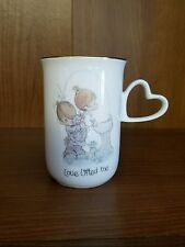 Precious Moments Coffee Cup Love Lifted Me Enesco Boy Girl Bubbler WaterFountain