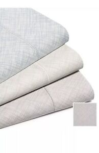 Hotel Collection 525 Thread Count Crosshatch CHARCOAL 4 Pc King  Sheet Set $285