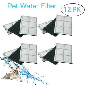 12PCS Charcoal Filters For Drinkwell Original Platinium Pet Water Fountain