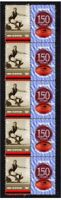 PERTH FC WAFL 150th of FOOTBALL STRIP OF 10 VIGNETTE STAMPS