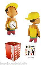 "BEIT DUDE RAPPER Yellow / Pink FIGURE à Custom 18cm / 7""  Munny Qee kidrobot"