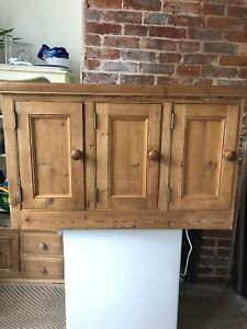 Country Pine Framed Kitchen Wall Cupboard 97w x 60h x 32d cm Emsworth