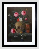 JAN VAN KESSEL FLEMISH VANITAS STILL LIFE FRAMED ART PRINT B12X5297