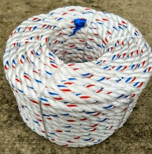 """3//4/"""" x 120/' Strongest Arborist Bull Rope Tree Rigging Double Carrier Braided"""