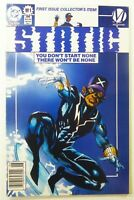 DC STATIC (1993) #1 KEY 1st App MILESTONE NEWSSTAND VF/NM (9.0) Ships FREE!