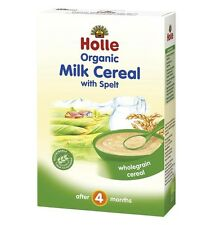 HOLLE Organic Unsweetened Milk Cereal with Spelt From 4 Months 250 g 8.8 oz