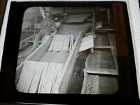 Antique Glass Negative Photo COAL MINER SLATE SORTER IN BREAKER SCRANTON PA