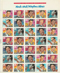SCOTT #2724/30 Rock and Roll /Rhythm and Blues-  FULL SHEET MNH