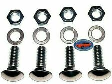 "Ford 7/16-14x1-1/4"" Stainless Capped Round Head Front Rear Bumper Bolts 4pcs A"