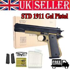 Manual Mag-fed Water Ammo Shot Battle Game STD M1911 Gel Ball Blaster Gun Toy EU
