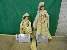 Paul Crees and Peter Coe 16' porcelain dolls. Anatasia and Alexandria