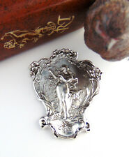 Antique Silver Goddess Natures Music Harp Garden Woman Stamping Jewelry (C-306)