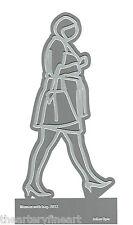 JULIAN OPIE 'Woman with Bag, 2012' Laser-Cut Metal Figure Multiple 6 x 3 in. NEW