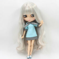 Neo Blythe Factory Nude Doll Mint Green Mix Pink Long Hair AZONE Special Body