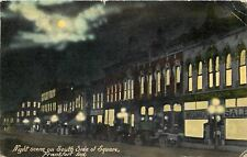 Frankfort Indiana~Night Lights~South Side Square~Coheesson~Mid-Summer Sale~1915